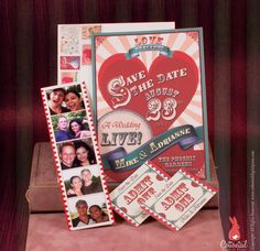 Sideshow Carnival Wedding Save the Date by CottontailPress on Etsy