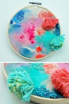 This isn't a DIY, but I love this idea for kids textile art inspiration. Hand embroidery by Katy Biele #hoopart #textileart