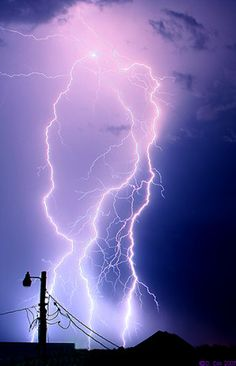 May 8... hearing some thunder and seeing lightening in summertime storms
