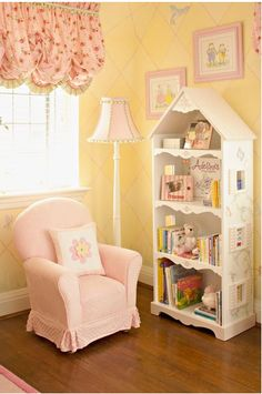 Little Girls Bookcase Love This Idea!