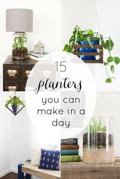 I love having lots of plants. Maybe that is why I have so many planter tutorials on my site! I am going to share my favorite DIY planters from over the past few years. All of them you can do in a DIY Planters You Can Make in a Day! Do It Yourself Decorating, Do It Yourself Furniture, Do It Yourself Home, Decorating Your Home, Diy Furniture, Home Decor Items, Diy Home Decor, Blogger Home, Diy Planters