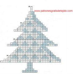 Detalles Crochet para Navidad / Tutorial   Crochet y Dos agujas - Patrones de tejido Crochet Tree, Crochet Christmas Trees, Christmas Cross, Diy Crochet, Crochet Flowers, Filet Crochet, Crochet Motif, Crochet Patterns, Xmas Crafts
