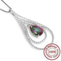 Natural Mystic Fire Rainbow Topaz Pendent Fashion Design Only $33.56 => Save up to 60% and Free Shipping => Order Now! #Bracelets #Mystic Topaz #Earrings #Clip Earrings #Emerald #Necklaces #Rings #Stud Earrings