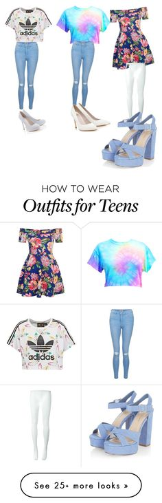 """""""Sets for Monday Tuesday wednesday"""" by botinalkola on Polyvore featuring adidas Originals, New Look, Lipsy and Comme des Garçons"""