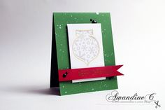 ·•●★ AmandineC Scrapbooking ✽ VIDEO ON YOUTUBE ✽ http://www.amandinec.com/blog #amandinec #scrapbooking #amandinecscrapbooking #cleanandsimple #card #cardmaking #handmadecard #handmade #crafting #christmas #christmasseries