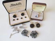 Vtg Mens Jewelry Mixed Lot Cuff Links Tie Tack NIB Resale  http://www.ebay.com/itm/Vtg-Mens-Jewelry-Mixed-Lot-Cuff-Links-Tie-Tack-NIB-Resale-/301838681154?hash=item4646fcc442:g:uwUAAOSwJkJWiAew