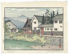 Toshi Yoshida (1911 - 1995) Japanese Woodblock Print Matsumoto,1940