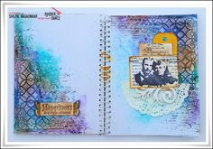 * Rubber Dance Blog *: Happiness is a state of mind - Art Journal Page