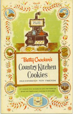 Vintage 1958 Betty Crocker COOKIE Country by TheMaineCoonCat, $4.55