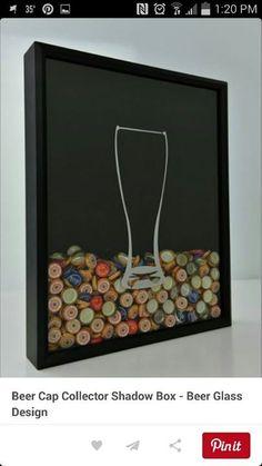 Bottle Cap Storage Idea