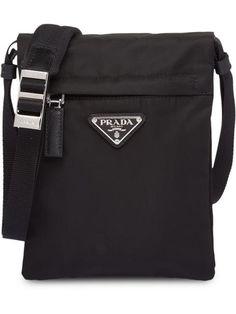 Shop Prada technical fabric shoulder bag Prada Men, Shoulder Bags, Crochet  Shoulder Bags, 42429fe4d7