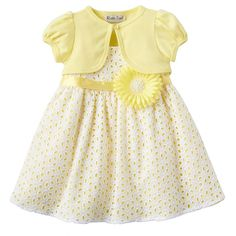 Youngland Floral Dress & Shrug Set - Toddler Girl
