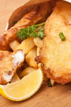 Fish and Chips Fried Haddock and Homemade French Fries Fish Dishes, Seafood Dishes, Fish And Seafood, Main Dishes, Shrimp Recipes, Fish Recipes, Halibut Recipes, English Breakfast, Beer Battered Fish