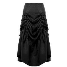 Women Vintage Gothic Steampunk Max Skirt Ruffles Fishtail Victorian Costume Black/Brown/Red/Blue #Affiliate