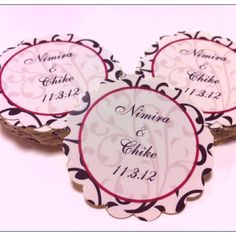 oriental lace wedding label is such a classic and elegant design.. Contrasting black lace on white and red border accent. Customize with your names and date. http://etsy.me/R1ILKW