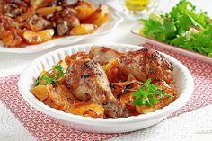 Pečené stehná so zemiakmi a s lečom