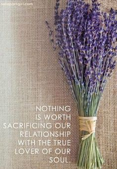 Nothing is worth sacrificing the relationship with the lover of your soul - Set Apart Girl Online Magazine