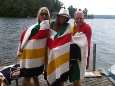 Hudsun Bay Towels and the Lake. Doesn't get more Canadian than this!