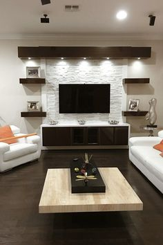 17 DIY Entertainment Center Ideas and Designs For Your New Home Do you have a brand-new house? If so, knowing about DIY entertainment center suggestions may be essential for you. We have 17 inspiration for you Tv Unit Interior Design, Tv Wall Design, Ceiling Design, Interior Ideas, Tv Cabinet Design Modern, Lcd Unit Design, Cupboard Design, Door Design, Living Room Modern