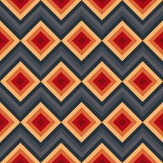 Modern elegant zig zag and rhombus seamless pattern. vector art illustration