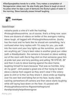 Steve Rogers Captain America Avengers #hislaughislikesunshine