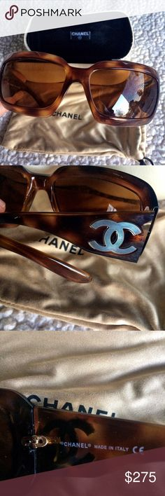 Chanel Sunglasses Pearl inlay logo . I do not see any scratches . Very good condition. Comes with case and dust bag. Item # 5076-H c502/73 61016. 120 CHANEL Accessories Sunglasses