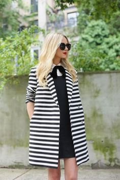 black and white Oversize coat.