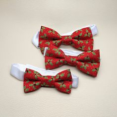 Mens Red Gold Scrolls Pre-Tied Adjustable Cotton Bow Tie Holiday Bowtie