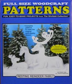 Resting Reindeer Family Wood Craft Pattern