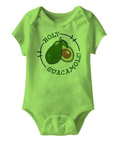Look what I found on #zulily! Key Lime 'Holy Guacamole' Bodysuit by Urs Truly #zulilyfinds