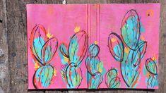 Serie cactus pintados a mano