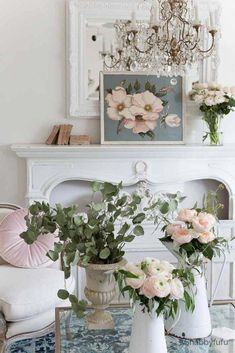 Step By Step – French Country Spring Decorating Ideas french country spring decorating ideas pink blue Spring Styling Tour with French Country Rug, French Country Living Room, French Country Bedrooms, Country Farmhouse Decor, French Country Decorating, Country Interior, Rustic French, Country Kitchen, French Country Fireplace