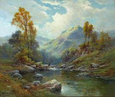 Oil Painting On Canvas Fantasy Landscape, Landscape Art, Landscape Paintings, Watercolor Landscape, Watercolor Art, Scenery Pictures, Retro Art, Vintage Art, Cool Landscapes