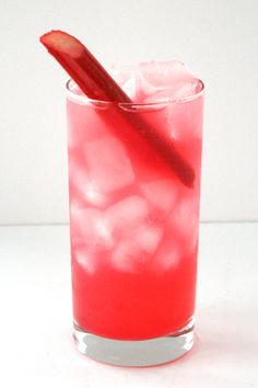 Rhubarb Gimlet - 5 Springtime Twists On The Classic Gimlet #refinery29  Rhubarb Gimlet The sweet-tart tang (and gorgeous rosy hue!) of this farm-to-highball cocktail comes from a simple DIY rhubarb syrup. Store leftover syrup in an airtight container in the fridge for up to two weeks. Better yet, double the syrup recipe and keep it on hand for homemade happy hours all month long!