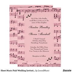 Sheet Music Pink Wed