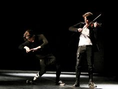 (From left) Rik (Ian Eastwood) and Johnnie (Nicholas Galitzine) break it down in High Strung (photo courtesy Riviera Films)