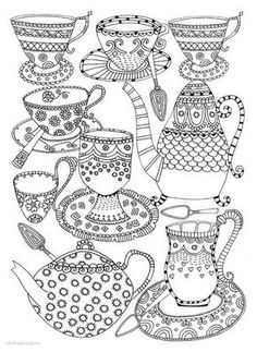 Tea or coffee? Coloring page