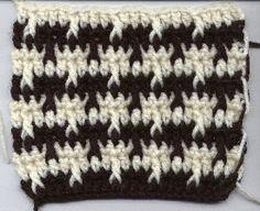 Houndstooth or Herringbone stitch: free crochet pattern Crochet Stitches Patterns, Crochet Motif, Knitting Stitches, Crochet Yarn, Stitch Patterns, Knitting Patterns, Free Crochet, Crochet Boot Cuffs, Crochet Boots