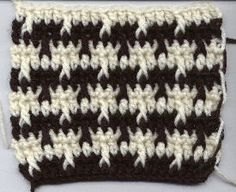 Houndstooth or Herringbone stitch: free pattern