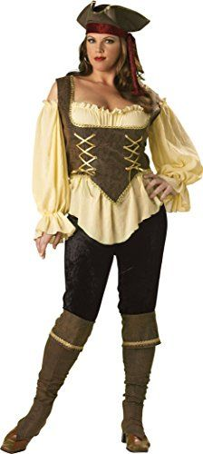 InCharacter Costumes Women's Plus-Size Rustic Pirate Lady Plus Size, Tan/Brown, 3X InCharacter Costumes http://www.amazon.com/dp/B001FVOHPW/ref=cm_sw_r_pi_dp_HK9Ovb0H2XNGK