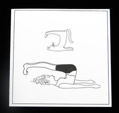 Humorous Illustrated Yoga Greeting Cards Set by SylviaLovesCards, $15.00