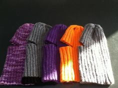 5 knit Balaclavas (full facial hats)