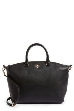 Tory Burch Frida Leather Satchel - Black