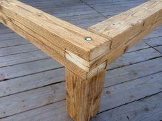 Rustic Wood Bed, Rustic Furniture, Diy Furniture, Bed Frame Design, Diy Bed Frame, Woodworking Joints, Woodworking Projects Diy, Home Decor Hooks, Tiki Bar Decor