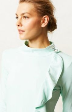 Pretty #mint ruffled jacket http://rstyle.me/~1KvYH
