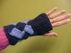 Entrelac Wrist Warmers