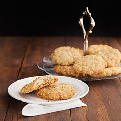 ANZAC biscuits are buttery, oaty, lovely cookies from down under.