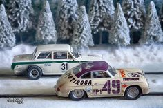 Fun In The Snow - Doctorsid - Art of Slot Cars - Cortina & Trabant Slot Car Racing Limited Prints & Posters