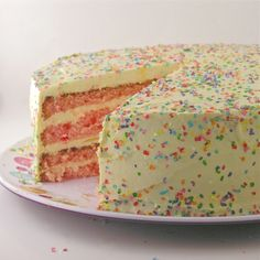 strawberry lemonade birthday cake (for rob)