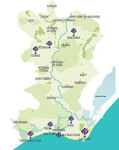 Office de Tourisme Cap d'Agde Méditerranée, Hérault, Occitanie Tourist Office, Languedoc Roussillon, Family Destinations, Holiday Resort, Kayak, Interactive Map, Map Design, Mediterranean Sea, Maps